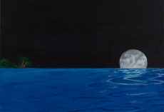 Night Moon Raising – Beginning of black edge art
